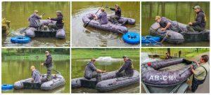 Collage zum Setzen der Pumpe im Sandbacher See