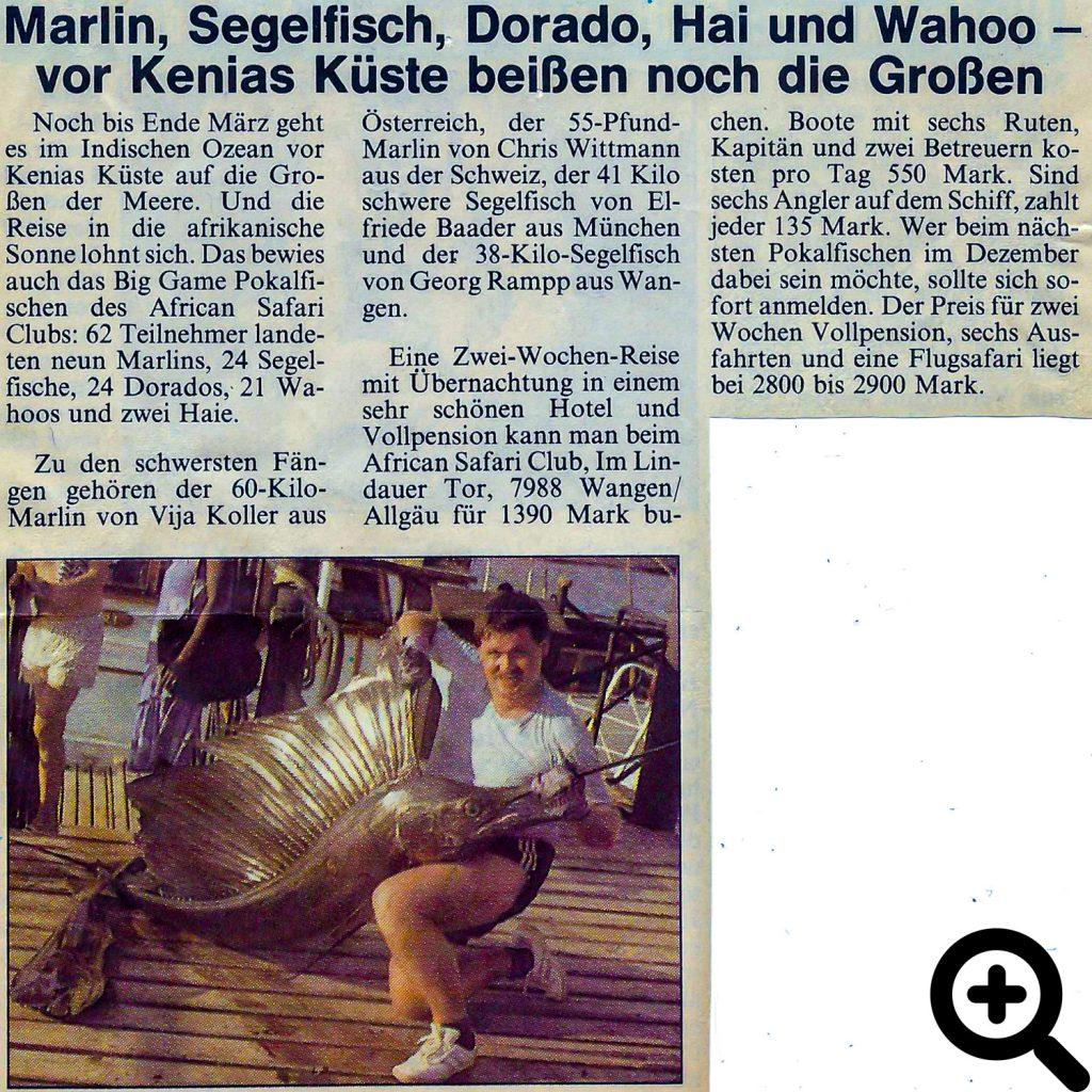 76 Pfund wiegt der Segelfisch von Friedel Seeger aus Breuberg