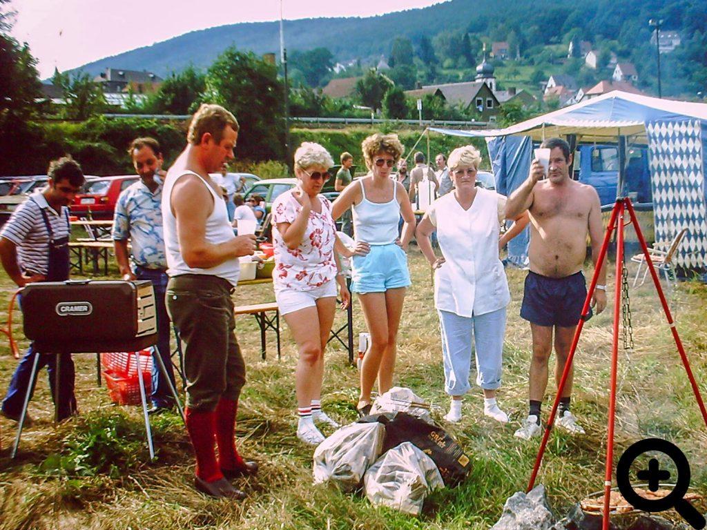 Aalangeln für alle Vereinsmitglieder am 16.08.1986 in Laudenbach am Main