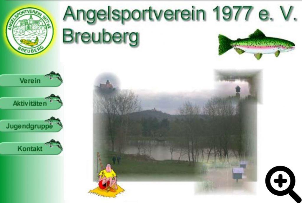 Screenshot von der ersten Internetseite des Vereins, welche am 30.04.2001 online ging.