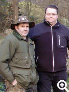 Jens Adam und Rene Grosche beim Anangeln am 30.03.2014 am Sandbacher See