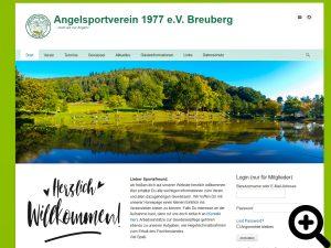 Screenshot der grundlegend aktualisierten Internetseite des Vereins