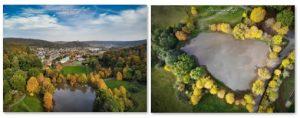 Luftbild 1+2 vom Sandbacher See
